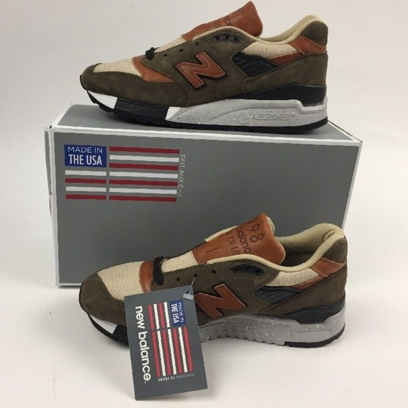 huge selection of 390b7 259a4 New Balance 998 Olive Military Green Camel sZ 5.5